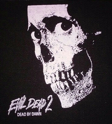 PATCH - Evil Dead 2, Dead by Dawn - canvas screen print HORROR movie, cult, punk