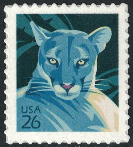 Scott 4139- Florida Panther- MNH (S/A) 26c 2007- mint unused stamp