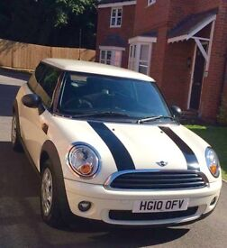BMW MINI * 1.6 LOW MILEAGE amazing run around in pepper white with stripes 1 LADY OWNER
