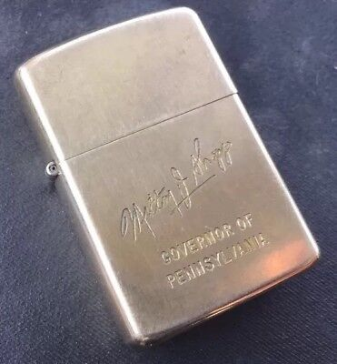 Rare 1975 10k Gold Filled Governor Of Pennsylvania Milton Shapp GF Zippo Lighter