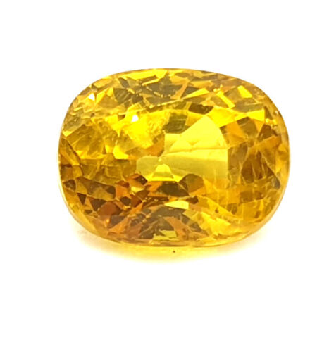 100% Natural 3 Ct Certified Clean Transparent Yellow Sapphire Premium Quality