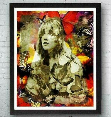 Stevie Nicks Art, Nicks wall Art, Bohemian prints, Hippie Art, Butterfly Woman](Bohemian Wall Art)