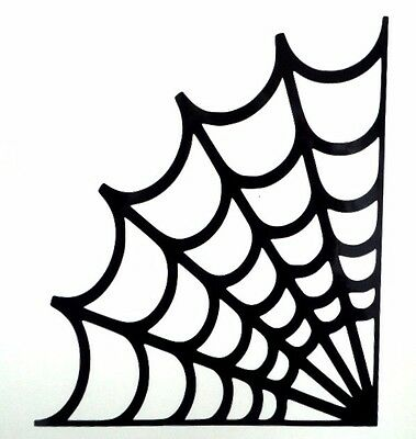 Spider Web Halloween Spooky Cool Car Window Vinyl Decal Sticker Choose 12 - Cool Halloween Cars