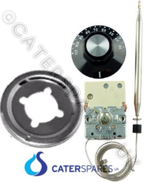 NEW EGO THERMOSTAT KIT 110 DEG THERMOSTAT /& CONTROL KNOB BAIN MARIE HOT PASS