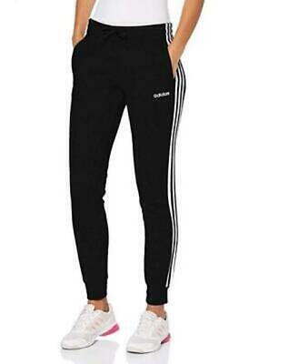 Adidas Womens 3-Stripes French Terry Straight-leg Relaxed-cuff Joggers {&)