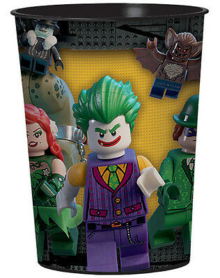 LEGO BATMAN REUSABLE KEEPSAKE CUPS (2) ~ Birthday Party Supplies Favors Stadium