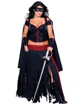 Sexy Lady Zoro - Bandit / Senorita Cape Costume - Plus Size Adult Women's - Lady Zoro