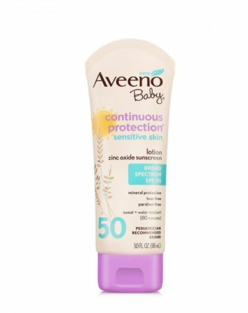 AVEENO CONTINUOUS PROTECTION BABY SPF#50 3 Ounce SENSITIVE S