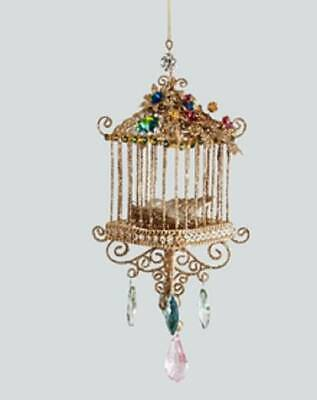 Katherine's Collection Bohemian Bird Cage Christmas Ornament Cottage Square