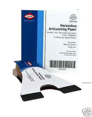 Dental Horseshoe Articulating Paper 72 Bluered Sheets - Superdent 9501465
