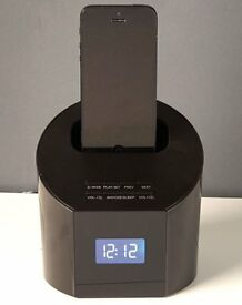 Black Clock Radio with Docking Feature (NEW)