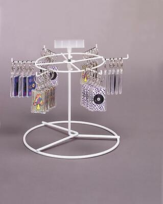 Counter Key Chain Spinner Display Rack - 1 Tier 6 Peg White