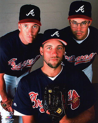 - Atlanta Braves TOM GLAVINE, GREG MADDUX & JOHN SMOLTZ Glossy 8x10 Photo Poster