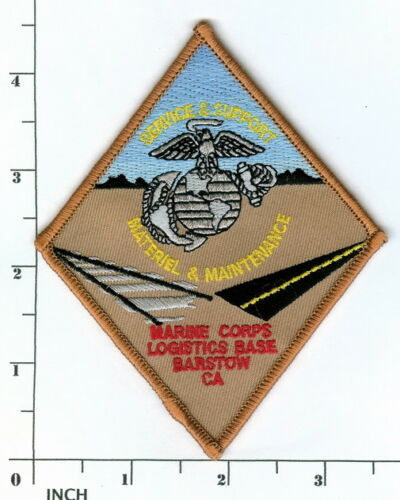 USMC MCLB Barstow, California color PATCH Marine Corps Logistics BASE Marines !