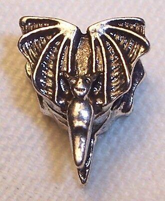 - Bat Vampire Animal Zoo Halloween Spacer Charm for European Bead Slide Bracelets