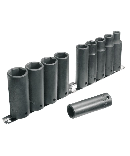MAXIMUM Impact Socket Set (Metric), 10-pc