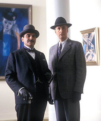 David Suchet and Hugh Fraser UNSIGNED photo - H6004 - Poirot
