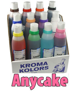Airbrush Food Colours - edible spray / ink / liquid for cakes  11x 266ml (9oz)