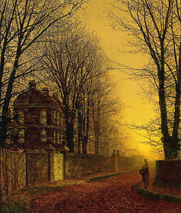 John Atkinson Grimshaw  - Autumn Gold  - 24'  CANVAS