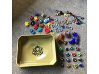 Beyblade Bundle - Stadium - 16 Beyblades - launchers - parts/spares - ripcords