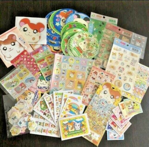 Hamtaro lot of stickers New Made in Japan Rare Not Sold In Stores Included