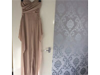 Nude silky jumpsuit new