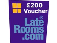 Late Rooms voucher for sale. £200 value, make me an offer!