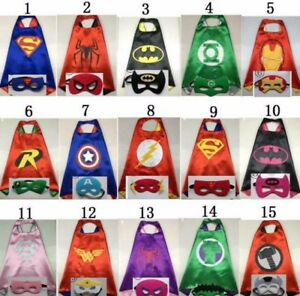 Brand New Superhero Cape and Mask Costume Sets