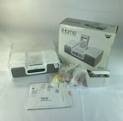 New iHome Ih5 Alarm Clock Radio Apple iPod Home System White Free Shipping