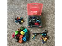 Beyblade Bundle - Carry Case/Box - 9 Beyblades - launchers - ripcords