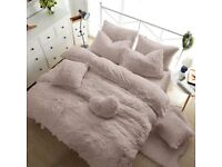 Super Soft Teddy Fleece Duvet Cover Set Available for Sale