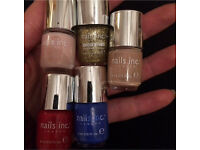 Nails Inc 4ml bottles, all basically full