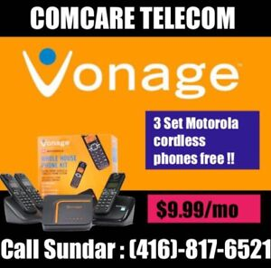 VONAGE / Ooma HOME PHONE , Call INDIA , US, Canada- $10 only