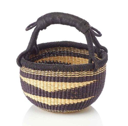 "SMALL African  Market Basket  Bolga Ghana Storage  9""-11"