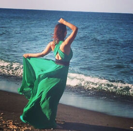 Long green dress for special occasion size 10