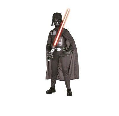 Star Wars Darth Vader Deluxe Kostüm Kinder Größe M komplett MIT Lichtschwert