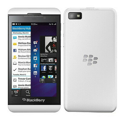 "New Unlocked Original BlackBerry Z10 16GB 4.2"" 8MP NFC GPS Wifi Smartphone White"
