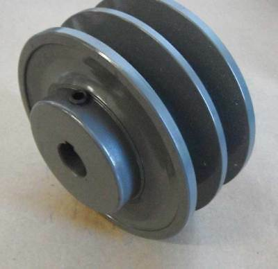 2bk30-78 Cast Iron Sheave Pulley 2.95 X 78 Bore Double Groove 4l5l Belts