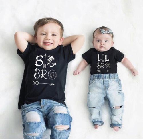 Newborn Baby Boy Romper Bodysuit / Big Brother Kids T-shirt