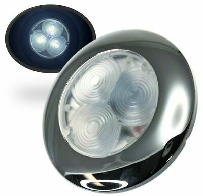 Marine Boat LED White Round Courtesy Light Flush Mount 45LM SS304 12V 0.5W IP66