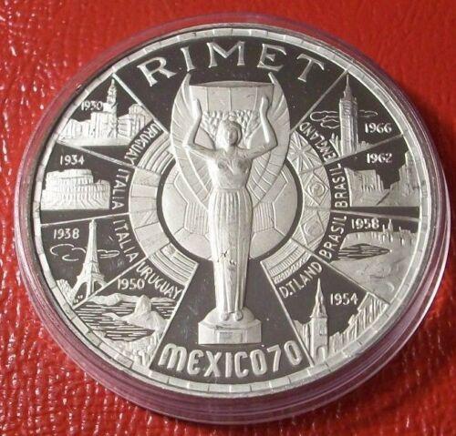 1970 200 Pesetas Silver Proof EQUATORIAL GUINEA World Cup Soccer KM#18.2