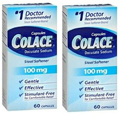 Colace Stool Softener 100 mg - Set of (2) 60 ct EX 02/2022 + (120 ct -