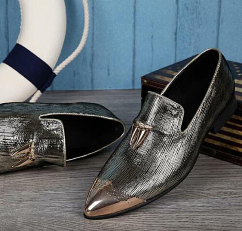 Elegant Metalldruck Herren Schuhe Business Anzugschuhe Spitz
