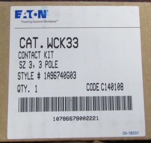 EATON CUTLER HAMMER W200 Size 3 Advantage Contact Kit 3 Pole WCK33 1A96740G03