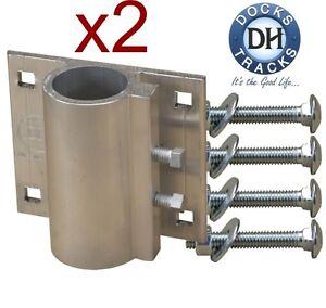 2 Boat Dock Pipe (post) Bracket 1.25