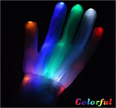 lightning LED Gloves Party Light Show Gloves For Clubbing, Rave, COLOR: Multi