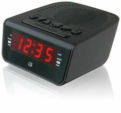Dual Alarm Clock Preset 10AM/FM Radio Big LED Display Digital Time Snooze Music