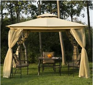 10x10 Gazebo with Curtains Kingston Kingston Area image 1
