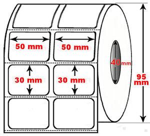 Rotolo-da-2500-etichette-adesive-mm-50x30-Termiche-2-piste-anima-40