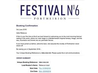 Festival number 6 tickets